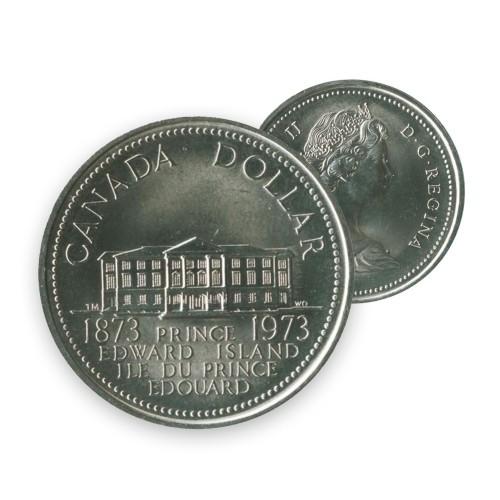1973 Canada Nickel $1 Dollar - Prince Edward Island Centennial (Circulated)