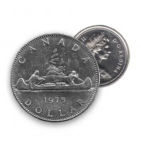 1975 Canada Nickel $1 Dollar - Voyageur (Circulated)