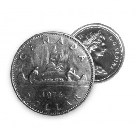 1976 Canadian $1 Voyageur Dollar Coin (Circulated)