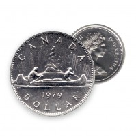 1979 Canada Nickel $1 Dollar - Voyageur (Circulated)