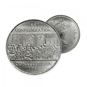1982 Canada Nickel $1 Dollar - 1867 Confederation Constitution (Circulated)