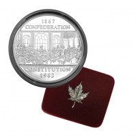 1982 Canada Proof Nickel $1 Dollar - The Constitution
