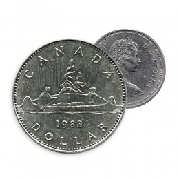 1983 Canada Nickel $1 Dollar - Voyageur (Circulated)
