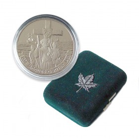 1984 (1534-) Canadian $1 Jacques Cartier 450th Anniv Proof Dollar Coin