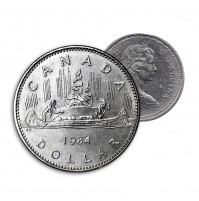 1984 Canada Nickel $1 Dollar - Voyageur (Circulated)