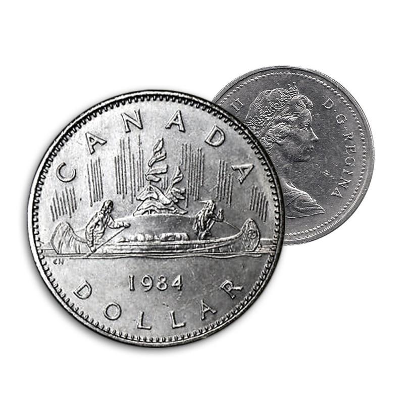 NICE GRADE 1984 Canada Nickel One Dollar Coin