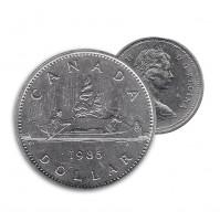 1985 Canada Nickel $1 Dollar - Voyageur (Circulated)