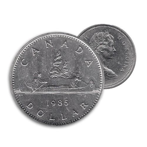 1985 Canadian $1 Voyageur Dollar Coin (Circulated)