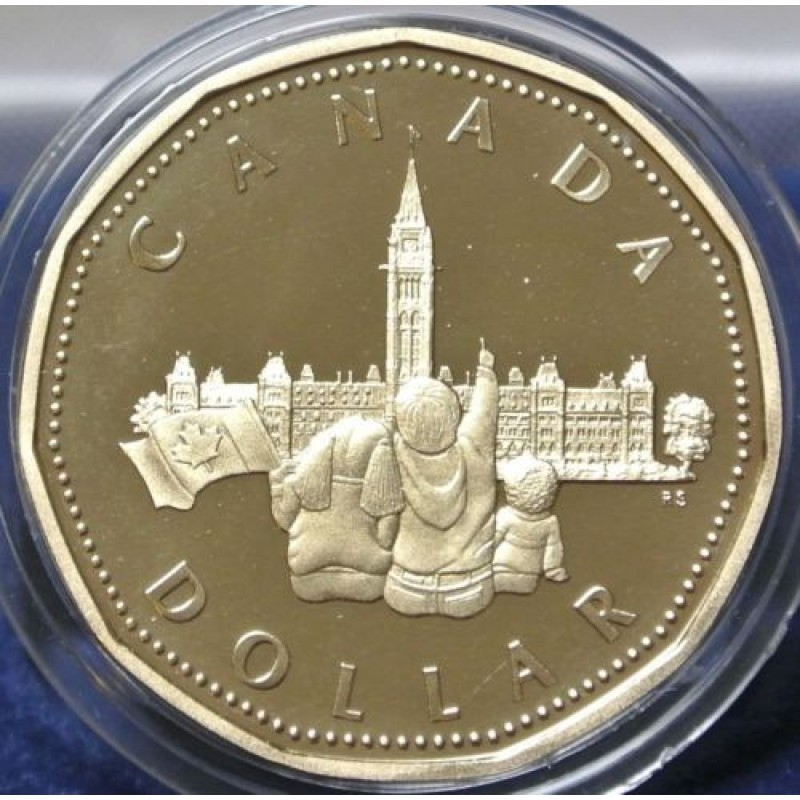 1867-1992 CANADA LOONIE 125th CONFEDERATION ANNIVERSARY PROOF DOLLAR COIN