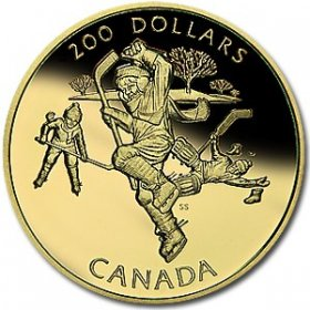 1991 Canada Gold 200 Dollar Coin - A National Passion