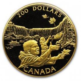 1992 Canadian $200 Niagara Falls: A Natural Wonder Proof 22-karat Gold Coin
