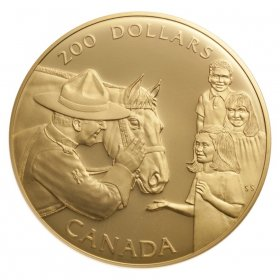 1993 Gold 200 Dollar Coin - Royal Canadian Mounted Police