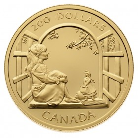 1994 Canada 22-karat Gold $200 Coin - Anne of Green Gables, A Literary Legacy