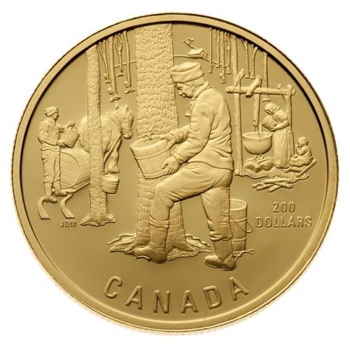 1995 Gold 200 Dollar Coin - The Sugar Bush