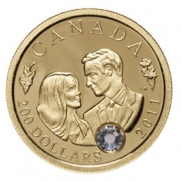 2011 Canada 22k Gold $200 Coin - The Wedding Celebration of Their Royal Highnesses The Duke and Duchess of Cambridge