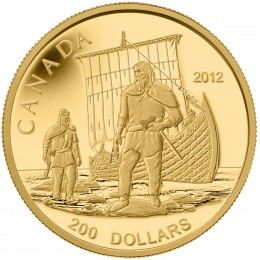 2012 Canada Pure Gold $200 Coin - Great Canadian Explorers Series: The Vikings
