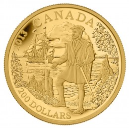 2013 Canada Pure Gold $200 Coin - Great Canadian Explorers Series: Jacques Cartier