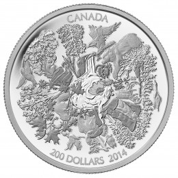 2014 Canadian $200 Towering Forests of Canada - 2 oz Fine Silver Coin