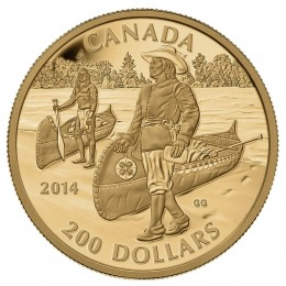 2014 Canadian $200 Great Canadian Explorers Series: Samuel de Champlain - Pure Gold Coin