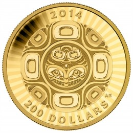 2014 Canadian $200 Interconnections: Sea - The Orca - 1/2 oz Pure Gold Coin