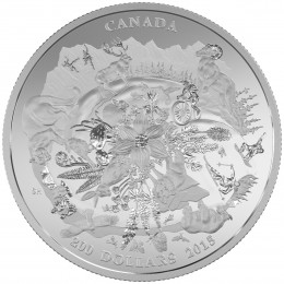 2015 Canadian $200 for $200 Canada's Rugged Mountains - Fine Silver Coin
