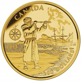 2015 Canadian $200 Great Canadian Explorers: Henry Hudson - Pure Gold Coin