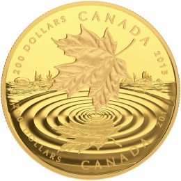 2015 Canadian $200 Maple Leaf Reflection - 1 oz Pure Gold Coin