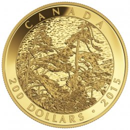 2015 Canadian $200 Tom Thomson: Pine Island, Georgian Bay (1916) - 1 oz Pure Gold Coin