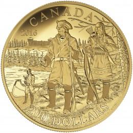 2016 Canadian $200 Great Canadian Explorers Series: Pierre Gaultier de la Verendrye - Pure Gold Coin