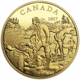 2017 Canadian $200 Great Canadian Explorers Series: Alexander Mackenzie - Pure Gold Coin