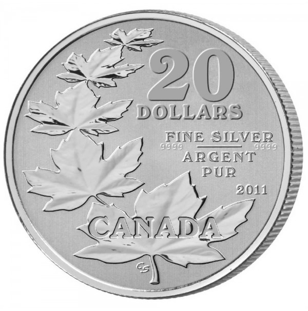 2011 Fine Silver 20 Dollar Coin - $20 for $20: Maple Leaf