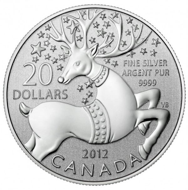 2012 Fine Silver 20 Dollar Coin - $20 for $20: Magical Reindeer