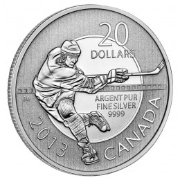 2013 Canadian $20 for $20 Hockey Fine Silver Coin