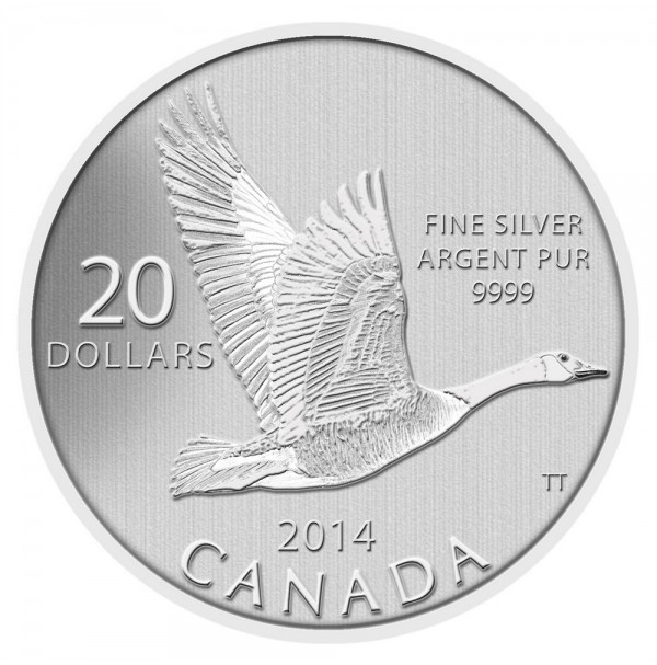 2014 Fine Silver 20 Dollar Coin - $20 for $20: Canada Goose