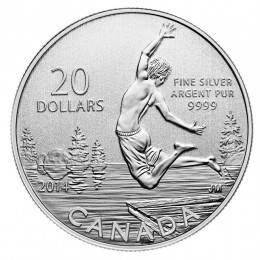 2014 Canadian $20 for $20 Summertime Fine Silver Coin
