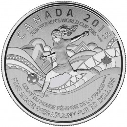 2015 Canadian $20 for $20 FIFA Women's World Cup™ Fine Silver Coin