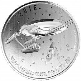 2016 Canadian $20 for $20 Star Trek™ USS Enterprise Fine Silver Coin