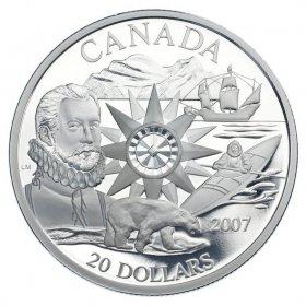 2007 Canadian $20 International Polar Year 125th Anniv Sterling Silver Coin