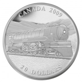 2009 Canada Fine Silver $20 Coin - Great Canadian Locomotives: Jubilee