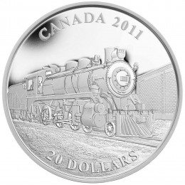 2011 Canada Fine Silver $20 Coin - D-10 Locomotive