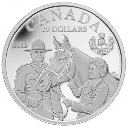 2012 Canada Fine Silver $20 Coin - Queen's Visit to Canada