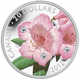 2012 Canada Fine Silver $20 Coin - Rhododendron