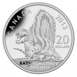 2013 Canadian $20 Dinosaurs of Canada: Bathygnathus Borealis - 1 oz Fine Silver Coin