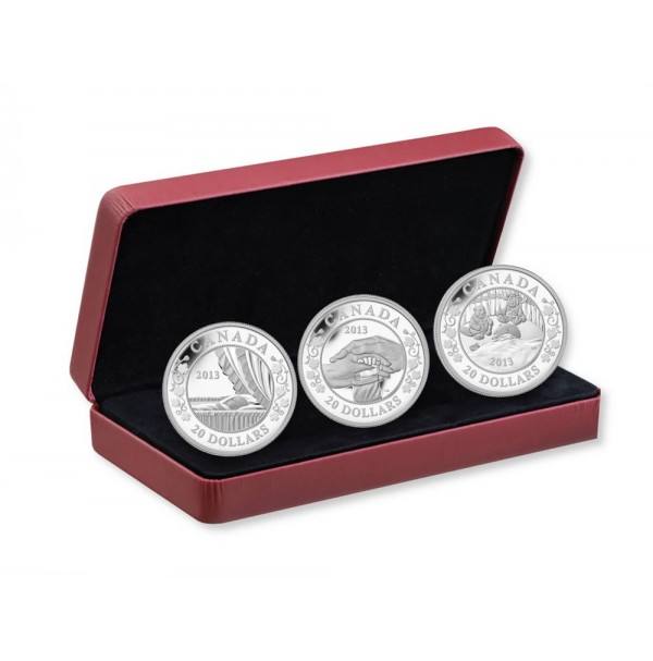 2013 Fine Silver 20 Dollar Coins - Birth of the Royal Infant: 3-Coin Set