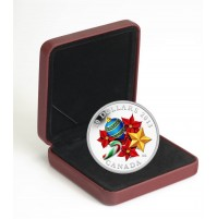 2013 Fine Silver 20 Dollar Coin - Holiday Season with Venetian Glass Candy Cane