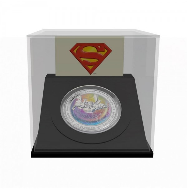 2013 Fine Silver 20 Dollar Coin - Superman™ Metropolis