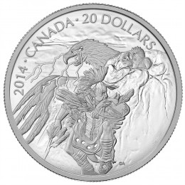 2014 Canada Fine Silver $20 Coin - Nanaboozhoo And The Thunderbird's Nest