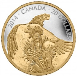 2014 Canada Fine Silver $20 Coin - Nanaboozhoo And The Thunderbird