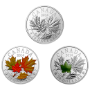2014 Canada Fine Silver $20 3-Coin Set - Majestic Maple Leaves