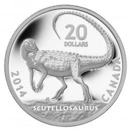 2014 Canadian $20 Dinosaurs of Canada: Scutellosaurus - 1 oz Fine Silver Coin